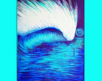 Original Surf Art Painting on Canvas