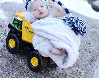 Baby Boy Stocking Hat Photo Prop, Newborn Photography Prop, Newborn Photography, Photo Prop, Crochet Prop, Stocking Hat, Baby Hat