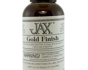 Jax Gold Finish  for Brass 2oz Bottle  (PM9001)