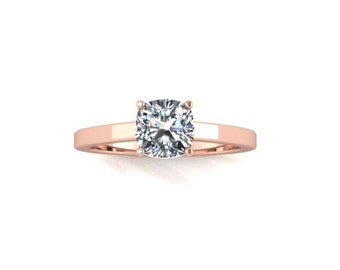Moissanite Engagement Ring, Engagement Ring, Rose Gold, White Gold,  Promise Ring Right Hand Ring Re00094