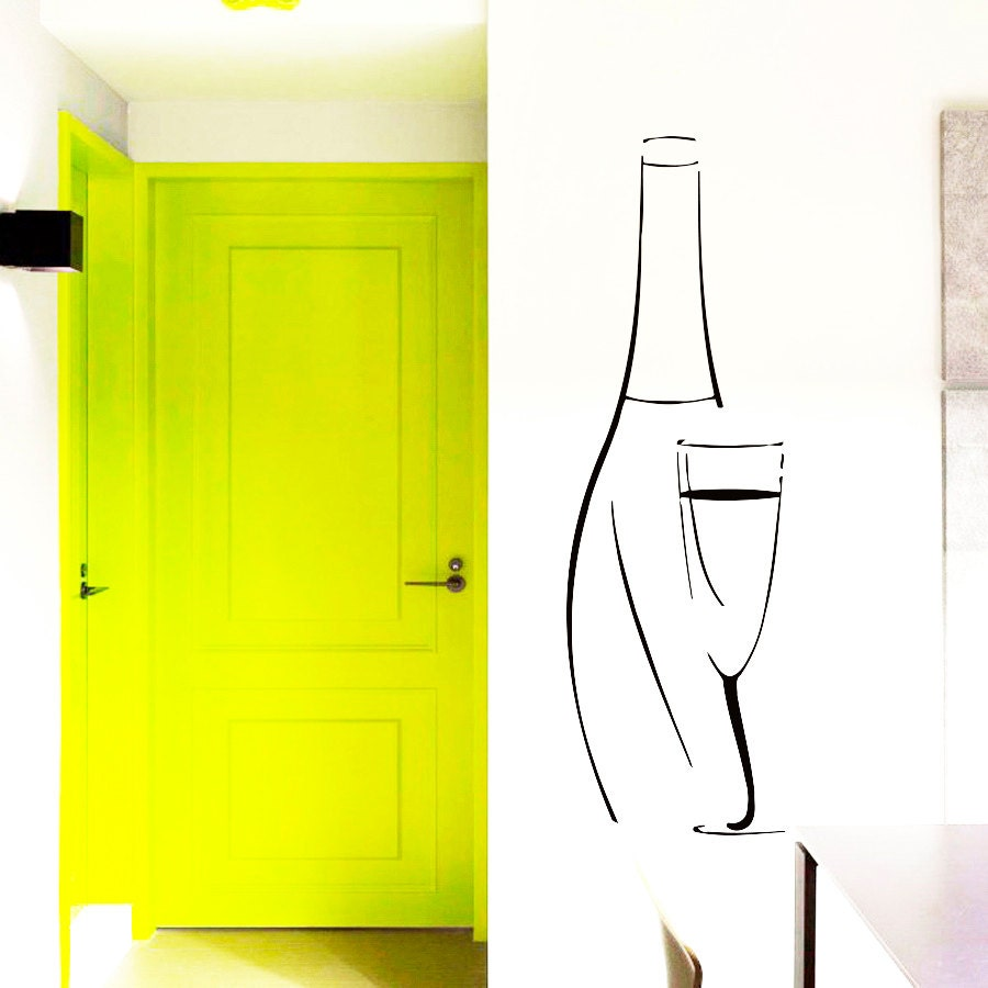 Wine Bottle Decals For Walls - Elitflat