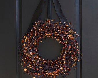 Halloween Wreath - Halloween Door Wreath - Halloween Decor - Front Door Wreath - Wreath - Fall Wreath - Fall Decor - Halloween Door Decor