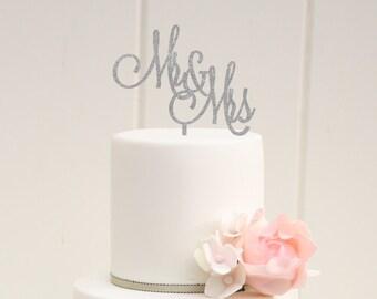 Wedding Cake Topper, Glitter Wedding Cake Topper, Mr and Mrs Wedding Cake Topper, Custom Cake Topper for Wedding Cake, Sparkle Cake Topper