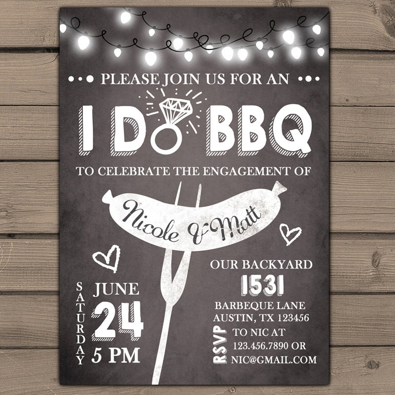 I do bbq engagement party invitation rehearsal dinner for Invitation for engagement party