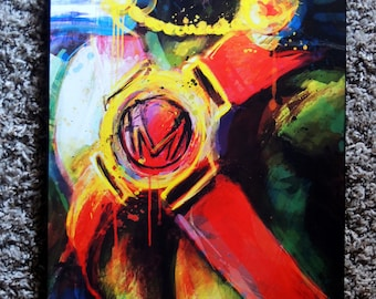 Martian Manhunter Justice League Abstract Art Panel **express shipping available**