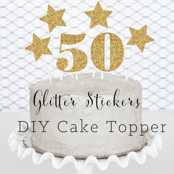 Cake Decoration Ideas For 50th Birthday : 50 Cake Topper - 50th Birthday Cake Topper - 50th Birthday ...