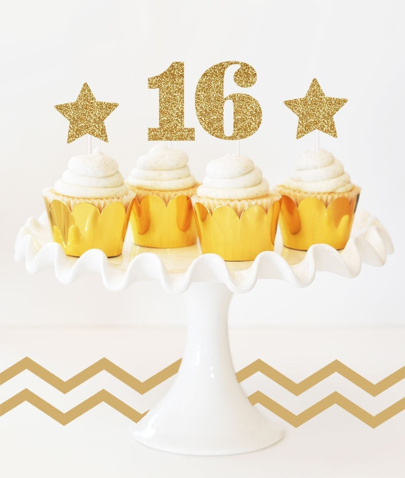 Design Your Own Sweet 16 Cake : Sweet 16 Cake Topper Number 16 Cake Topper DIY by ModParty