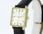 14K Hamilton Square Bezel Wrist Watch