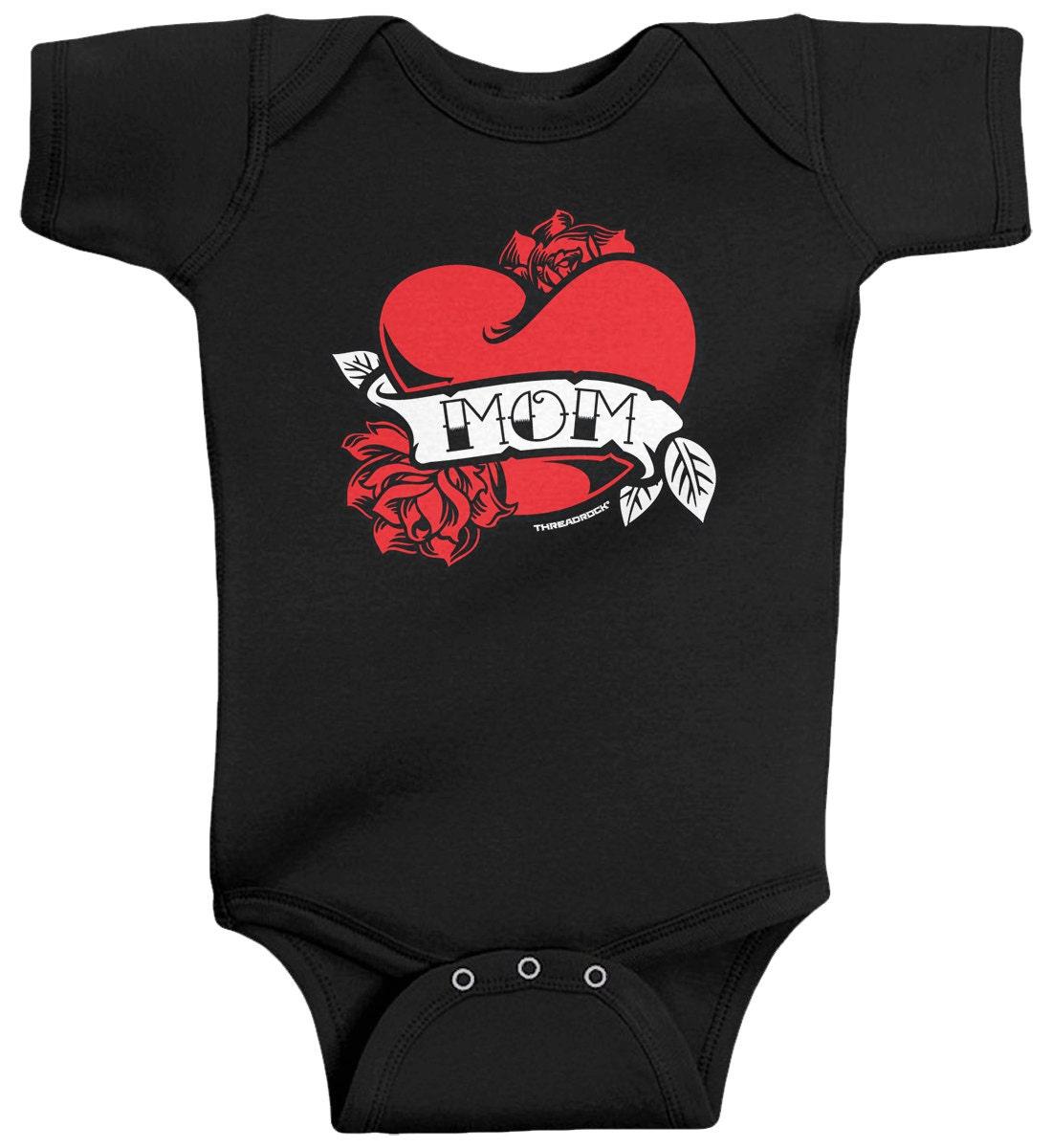 Mom Heart Tattoo Baby Boys  Infant Bodysuit c5b5a5014