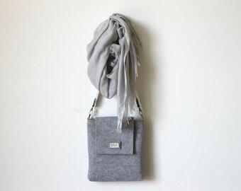 FREE SHIPPING - Mens Messenger bag, Mens Satchel bag, Messenger bag for Men, Felt Messenger bag, Felted bag, Crossbody bag for Men