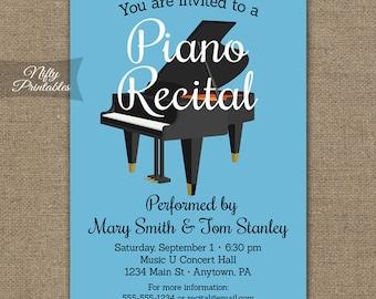 Piano Recital Invitations - Printable Piano Concert Invites - Music Concert Invitation - Musical Orchestra Invitation - Recital Announcement