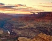 Fine Art Landscape Photography Print, Grand Canyon, Sunset, Lipan Point, Arizona, metallic print, canvas, standout mount, landscape wall art