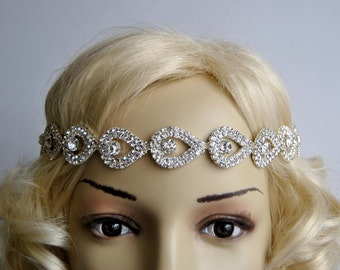 Gorgeous Bridal Headband, Bridal Head Piece,Rhinestone Headband, Wedding Bridal Hair Piece, Bridal Headpiece, Rhinestone flapper