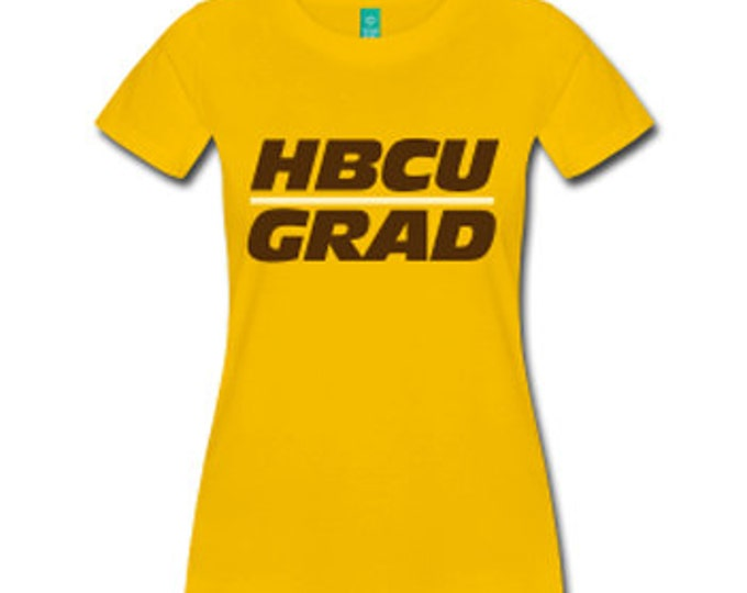 HBCU Grad Women's Fitted T-Shirt - Yellow