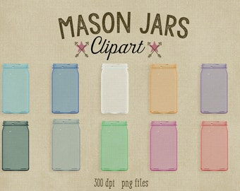 Mason Jars Clipart, 300 dpi png file, commercial use graphics, high quality 3d render glass mason jar