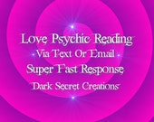 Love Psychic Reading Via Text Or Email All Will Also Recieve PDF, Same Day Psychic Reading, Super Fast Answers