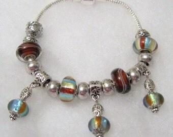 467 - Fall Foil Stripe Bracelet