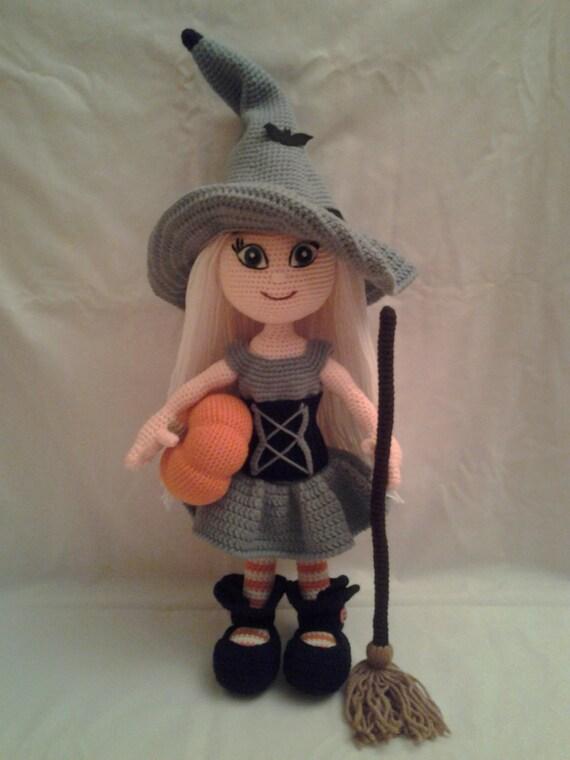 Amigurumiwitches Forum : WANDA the Witch Crochet Amigurumi Doll Crochet Halloween