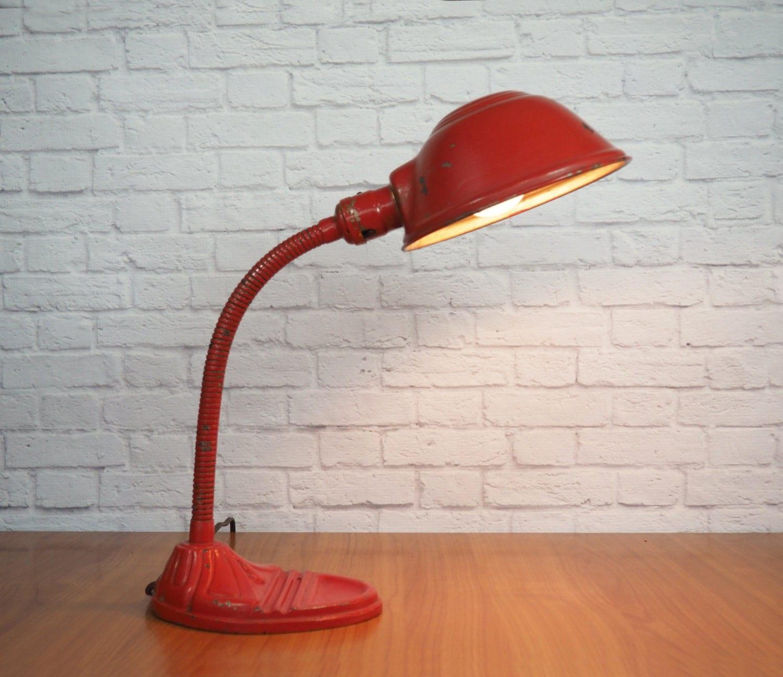 vintage industrial gooseneck lamp antique art deco desk lamp. Black Bedroom Furniture Sets. Home Design Ideas