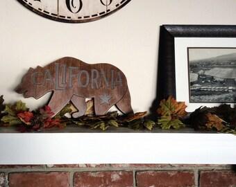 California Bear Home Decor Sign