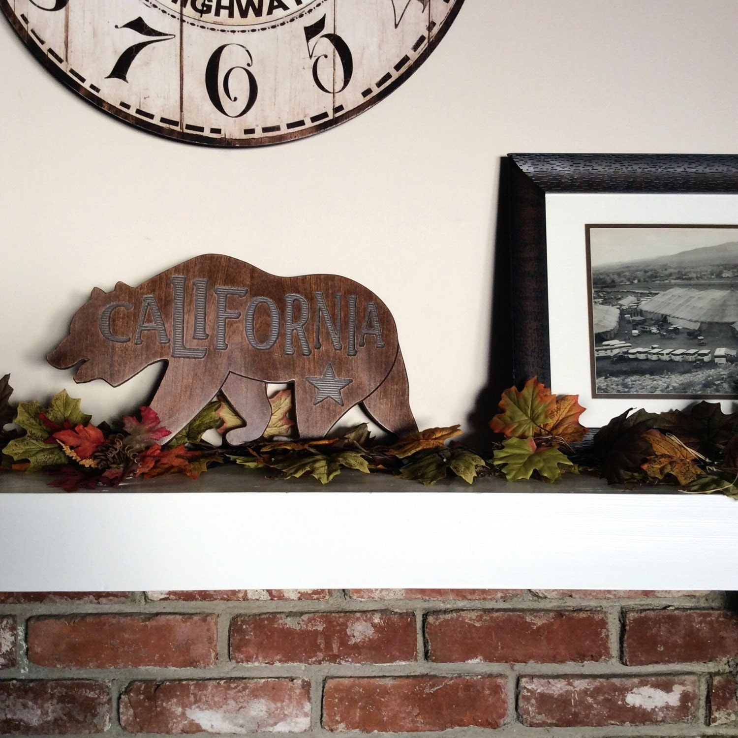 California bear home decor sign for Bear home decorations