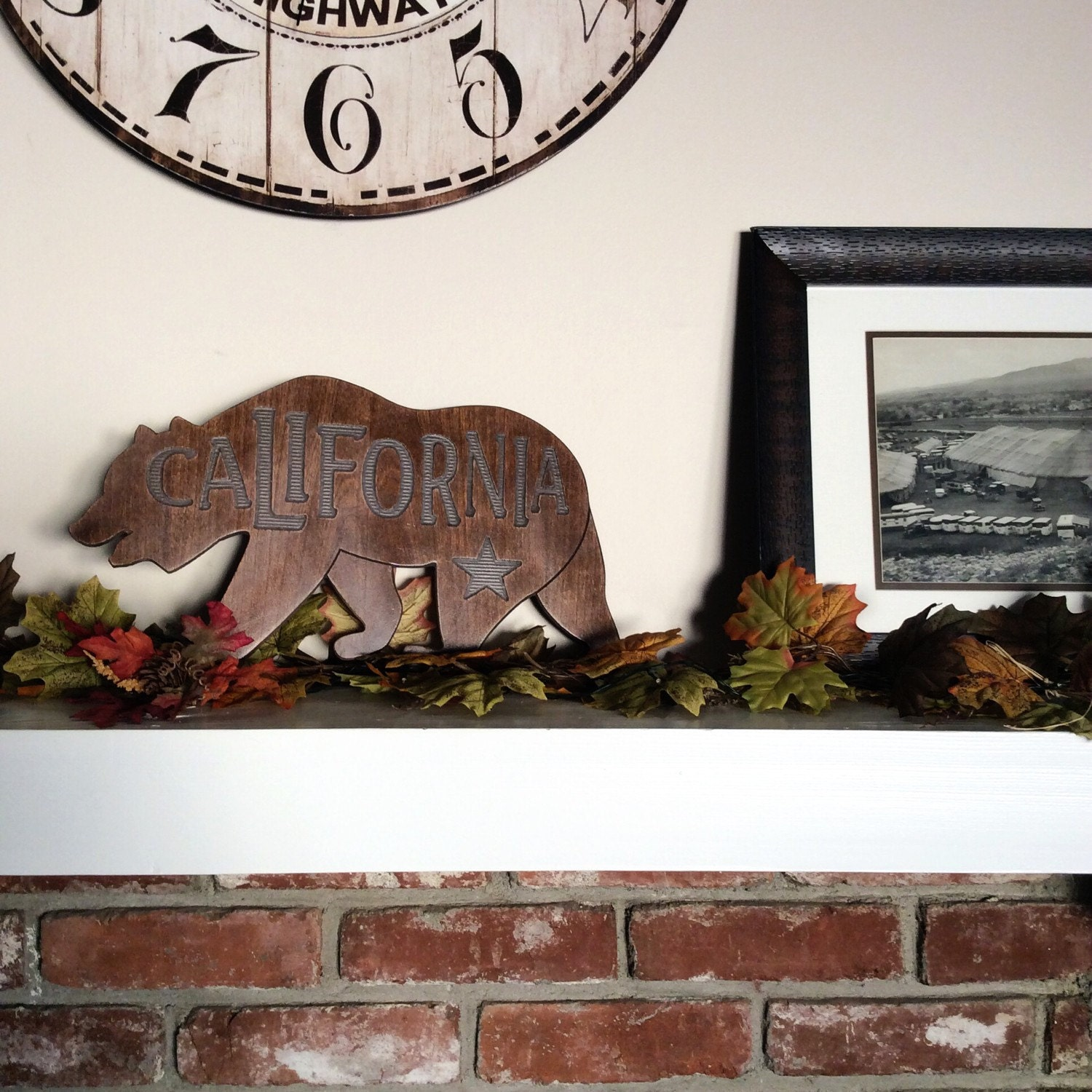 California bear home decor sign for Bear decorations for home