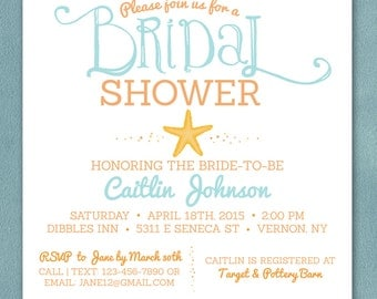 Bohemian Bridal Shower Invite Feather Invitation Boho Bridal