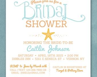 Beach bridal shower invitation – Etsy