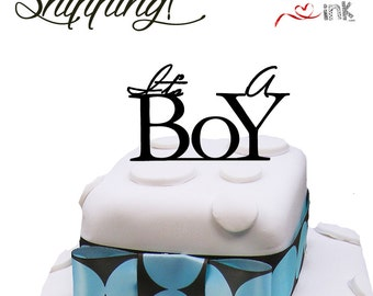 Its a boy baby shower cake topper