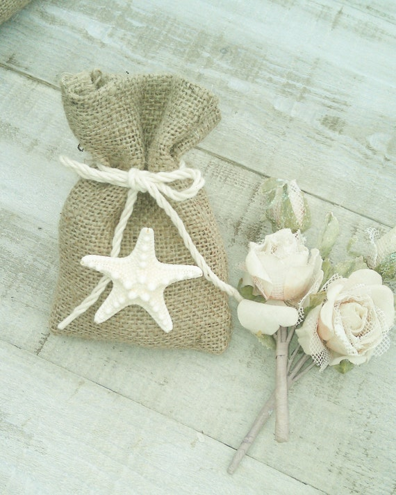 Wedding Favor Bags Beach : Wedding Favor Bags - Burlap Favour Bags - Burlap Gift Bags - Beach ...