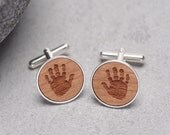 Handprint Cufflinks Child Handprint Cufflinks Baby Hanprint Personalized Cufflinks New Dad Gift New Baby Gift