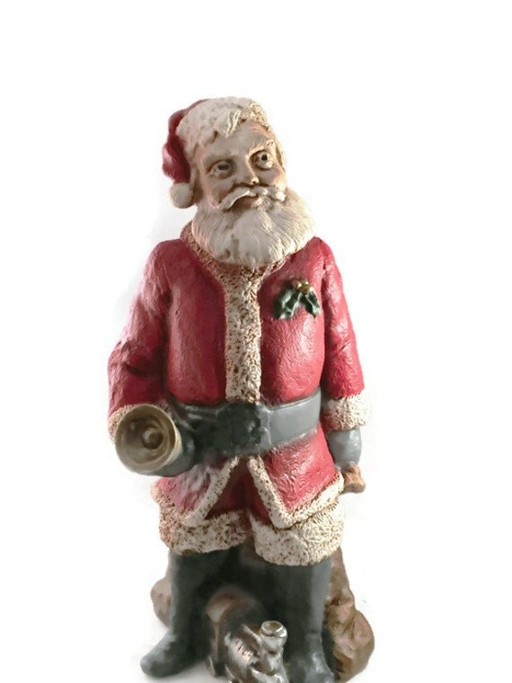 Universal Statuary Santa Figurine #858, Rare Vintage Old World Santa Christmas Decor