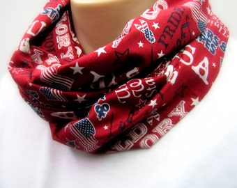 USA Old Glory Red Infinity Scarf