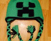 Green and Black Creepy hat