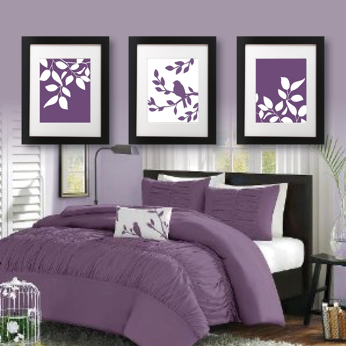 Master Bedroom Art Print Purple Bedroom Decor Bath Art