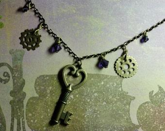 Key & Gears Necklace