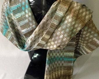 Handwoven Alpaca/Wool/Silk Shawl/Scarf