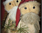 Old St Nick Prim Christmas Santa Claus sewing  e-pattern