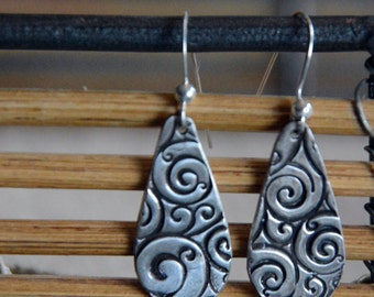 Fine Silver Dangle Earrings: a touch of whimsy and fun