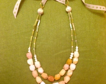 Rocks and Ribbons Necklace