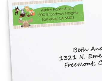 Woodland Address Labels - Personalized Woodland Creatures Return Address Sticker - Woodland Animals Address Labels - Forest Friends - 30 Ct.