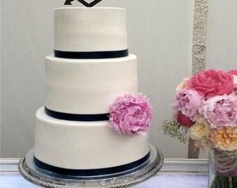 Deer Heart Arrow Wedding Cake Topper - deer heart - country - rustic - shabby chic- redneck - cowboy - outdoor - western - acrylic