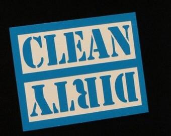 Clean Dirty Dishwasher Magnet, Dishwasher Sign, Dishwasher Decal