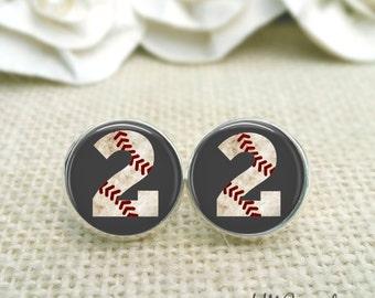 Baseball Earrings Custom Baseball Number Earrings Baseball Jewelry Baseball Accessories