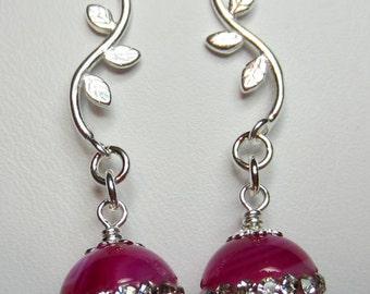 Marcasite Sardonyx earrings