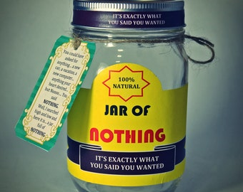 Best Gag Gift A Jar of Nothing Funny Gift for Boyfriend