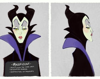 Villain Mugshots - Maleficent