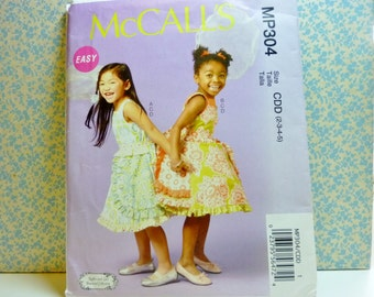 McCalls Sewing Pattern #MP304, Girls sizes 2, 3, 4, 5, Ruffles and Lace Treasured Collection, UNCUT