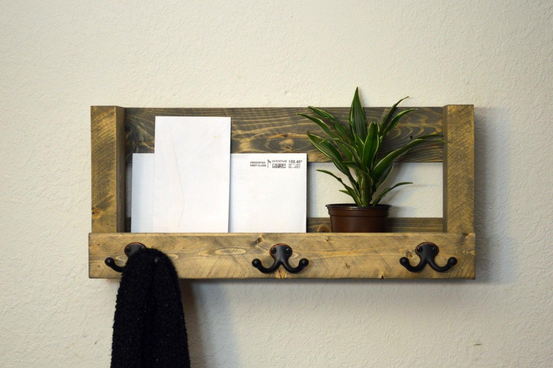 entryway organizer wall coat rack entry shelf by. Black Bedroom Furniture Sets. Home Design Ideas