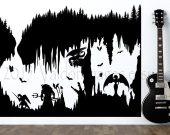 Into The Darkness Decal, Vinyl Wall Decal, Decal, Gaming Wall Decal, Video